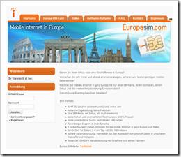 Europa SIM-Card